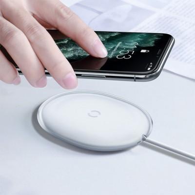 Беспроводное зарядное BaseUs Jelly Wireless Charger 15W white