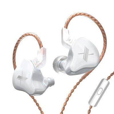 Наушники KZ ZS5 (EDX) с микрофоном white